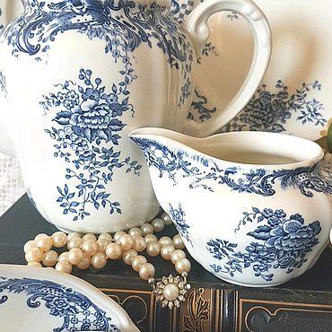 Посуда ручной работы. Ярмарка Мастеров - ручная работа Виллерой Бох сервиз  шебби шик пары. Handmade.