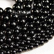 Бусины ручной работы. Ярмарка Мастеров - ручная работа Агат черный 8 10 12 14 16 18 мм шар - бусины камни для украшений. Handmade.