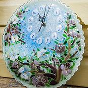 Для дома и интерьера ручной работы. Ярмарка Мастеров - ручная работа Часы Весенний блюз. Handmade.