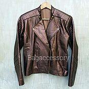 Одежда handmade. Livemaster - original item Women`s jacket made of genuine leather. Handmade.