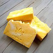 """Косметика ручной работы. Ярмарка Мастеров - ручная работа Натуральное мыло """"Нежный лимон"""" мыло с нуля. Handmade."""
