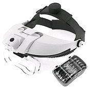 Материалы для творчества handmade. Livemaster - original item Headlamp magnifier with illumination (2 LED) MG81001-H. Handmade.