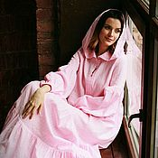 Одежда handmade. Livemaster - original item Romantic holiday dress and not only Pink. Handmade.