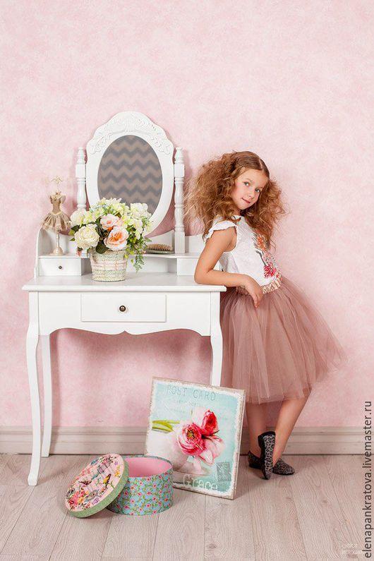 Одежда для девочек, ручной работы. Ярмарка Мастеров - ручная работа. Купить детская пышная юбочка, юбка пачка. Handmade. Бежевый