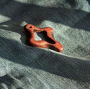 Украшения ручной работы. Ярмарка Мастеров - ручная работа Кулон из экзотического дерева Амарант. Handmade.