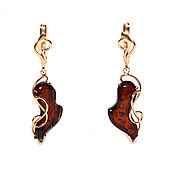 Украшения handmade. Livemaster - original item Earrings with amber