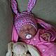 """Для новорожденных, ручной работы. Ярмарка Мастеров - ручная работа. Купить Комплект """"Зайка - цветочные фантазии"""". Handmade. Разноцветный"""