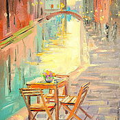 Картины и панно handmade. Livemaster - original item Oil painting on canvas. Twilight in Venice. Handmade.