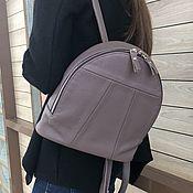 Сумки и аксессуары handmade. Livemaster - original item Backpack small taup genuine leather. Handmade.