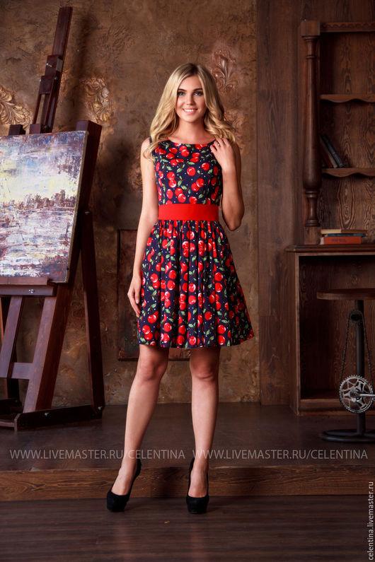Короткое летнее платье без рукавов, платье до колена, платье в отпуск, красивое повседневное платье, модное платье из хлопка, платье на каждый день, платье на лето, короткое платье с принтом, ретро