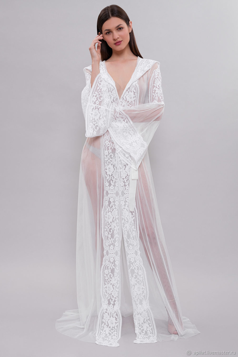 Long Tulle Bridal Robe F15, Bridal Lingerie, Wedding LingerieThe ...