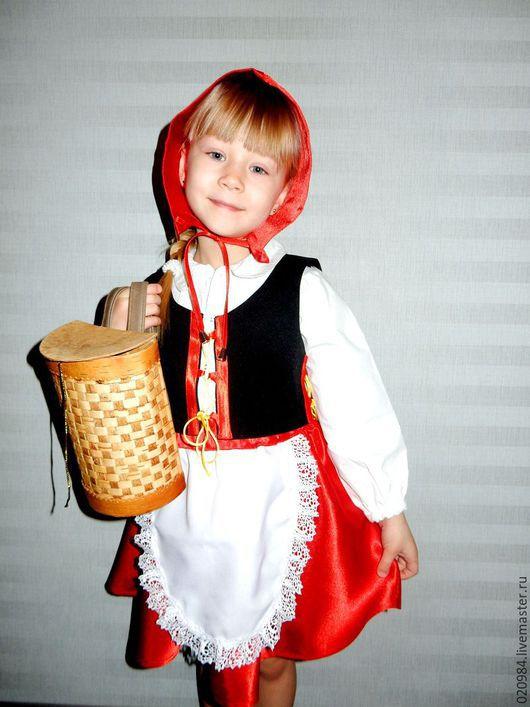 Детские карнавальные костюмы ручной работы. Ярмарка Мастеров - ручная работа. Купить Красная шапочка. Handmade. Ярко-красный, костюм