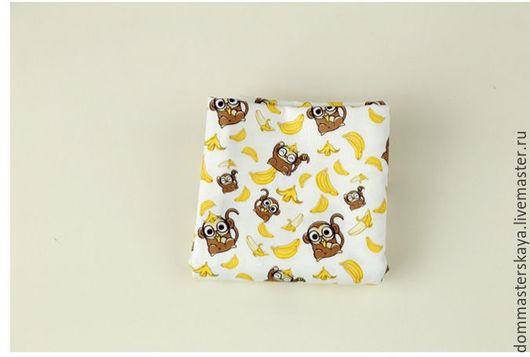 Шитье ручной работы. Ярмарка Мастеров - ручная работа. Купить 100% хлопок Корея, обезьянки с бананами. Handmade. Хлопок