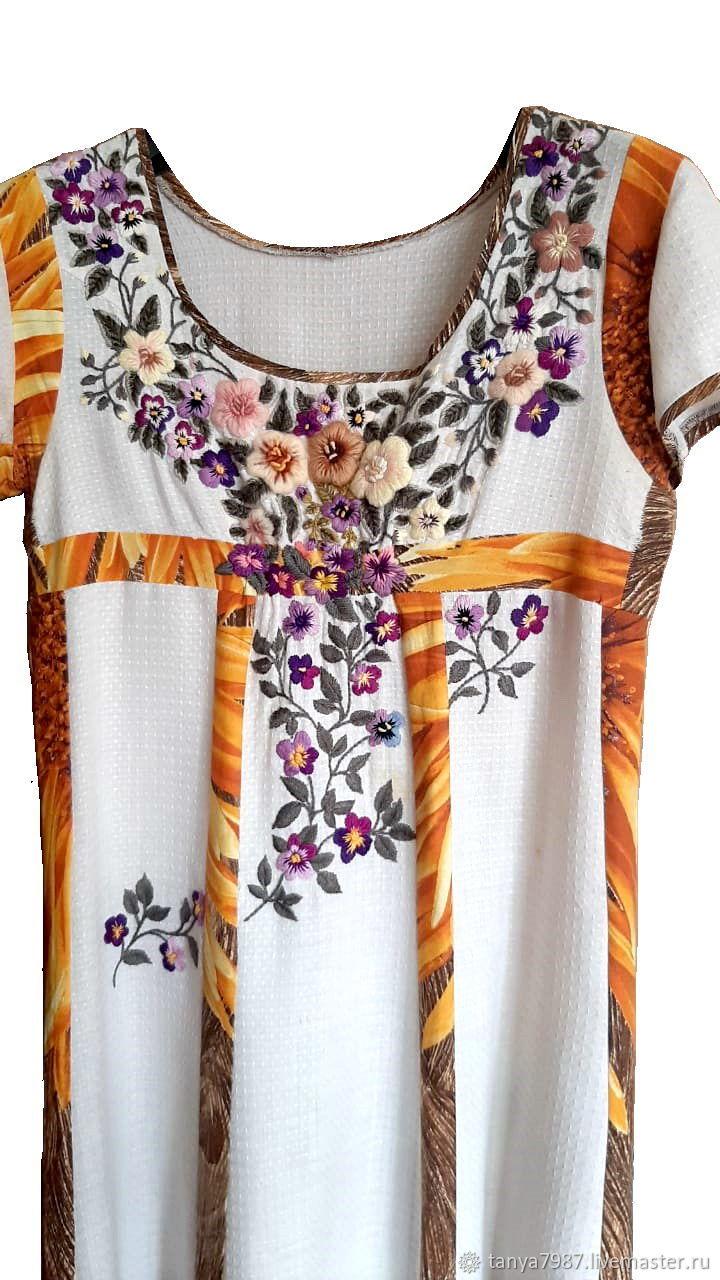 Блузки, Объёмная вышивка цветами на одежде, на заказ, Платья, Москва,  Фото №1