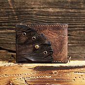 Кошельки ручной работы. Ярмарка Мастеров - ручная работа Коричневый кошелёк из сыромятной кожи. Handmade.