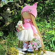Куклы и игрушки ручной работы. Ярмарка Мастеров - ручная работа Кукла интерьерная Интерьерная кукла Девочка с плюшевым мишкой. Handmade.