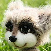 Куклы и игрушки ручной работы. Ярмарка Мастеров - ручная работа Малышка енотик. Handmade.