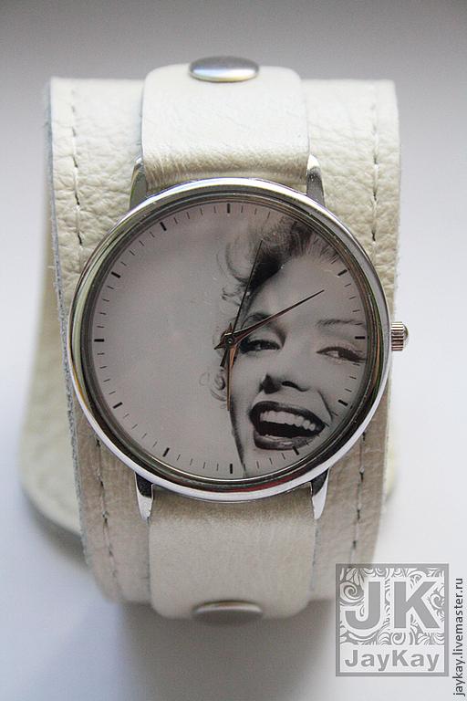 """Часы ручной работы. Ярмарка Мастеров - ручная работа. Купить Часы наручные JK """"ММ на широком"""". Handmade. Часы наручные"""