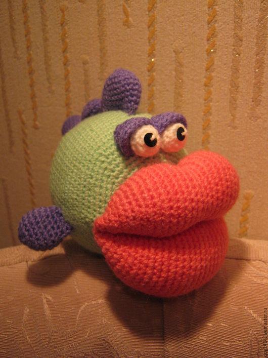 Обучающие материалы ручной работы. Ярмарка Мастеров - ручная работа. Купить Мастер-класс по вязанию игрушки Рыбка-поцелуйчик. Handmade.