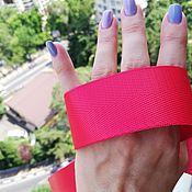 Ленты ручной работы. Ярмарка Мастеров - ручная работа Стропа ременная. лента киперная. цвет красный. Handmade.