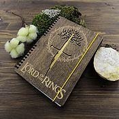 Канцелярские товары handmade. Livemaster - original item The Lord of the rings Lord of the rings Wood Notepad / Sketchbook. Handmade.