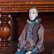 Куклы и игрушки ручной работы. Ярмарка Мастеров - ручная работа Коллекционная кукла Пьеро подвижная кукла (будуарная). Handmade.