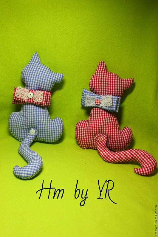 Игрушки животные, ручной работы. Ярмарка Мастеров - ручная работа. Купить Кошки на окошке. Handmade. Комбинированный, котики, для дома и дачи