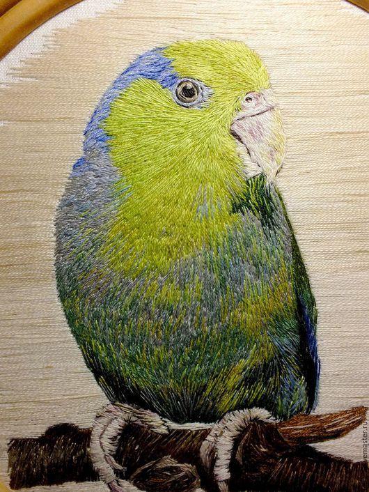 """Животные ручной работы. Ярмарка Мастеров - ручная работа. Купить """"Воробьиный попугайчик"""", картина. Авторская ручная работа. Handmade. Птица"""