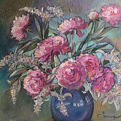 """Картины и панно ручной работы. Ярмарка Мастеров - ручная работа масло """" Цветы счастья"""". Handmade."""