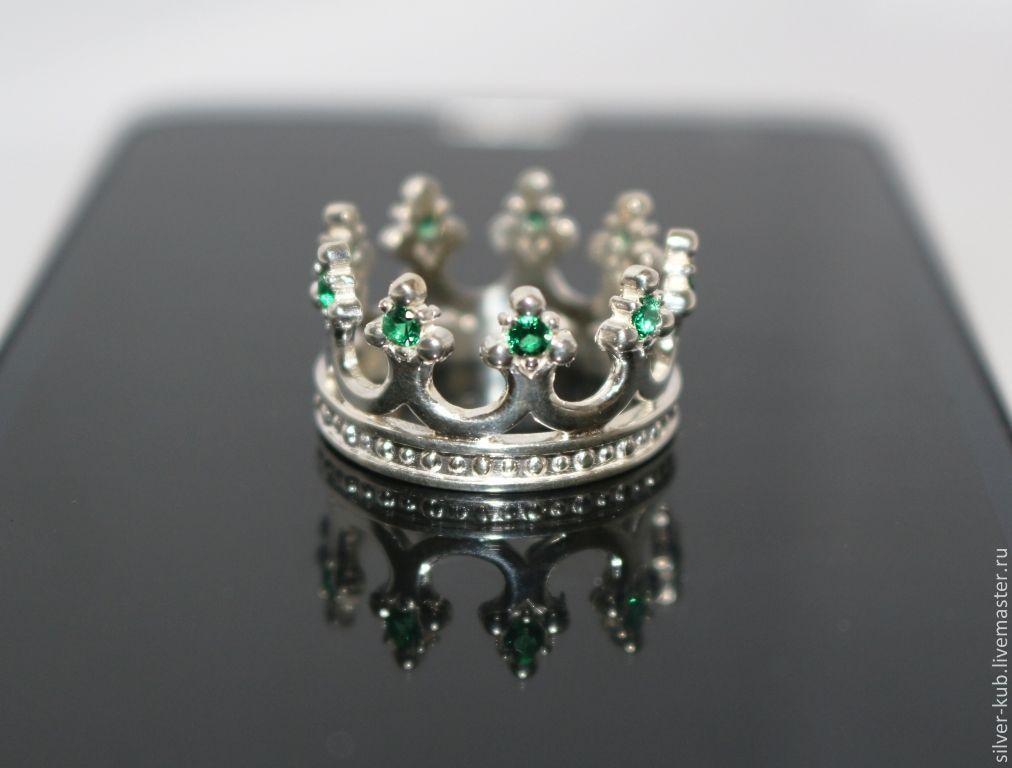 кольцо корона с изумрудами фото сети