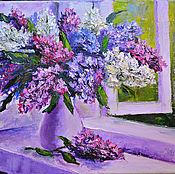 """Картины и панно ручной работы. Ярмарка Мастеров - ручная работа """"Окно в май"""". Handmade."""