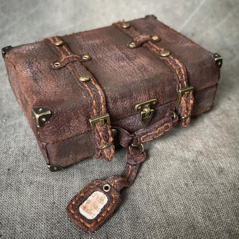 Винтажный чемодан,чемоданчик,кожаный чемодан, Одежда для кукол, Новосибирск,  Фото №1