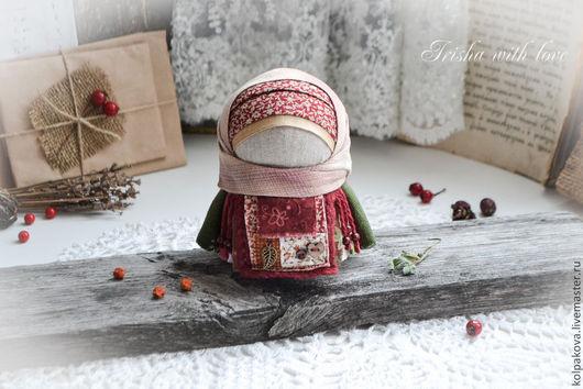 """Народные куклы ручной работы. Ярмарка Мастеров - ручная работа. Купить кукла Крупеничка """"Брусничка"""".. Handmade. Бордовый, народная кукла"""