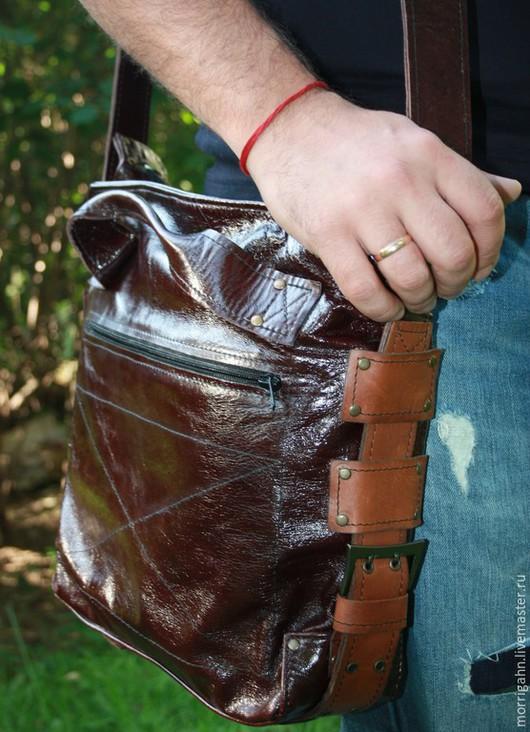 Мужские сумки ручной работы. Ярмарка Мастеров - ручная работа. Купить Сумка мужская RABAT. Handmade. Коричневый, натуральная кожа