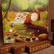 """Календари ручной работы. Ярмарка Мастеров - ручная работа Вечный календарь """"Тоторо"""". Handmade."""