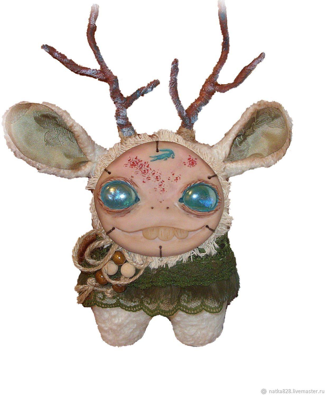 Сказочные персонажи ручной работы. Ярмарка Мастеров - ручная работа. Купить Игрушка из меха Монстр с зубами 24 см. Handmade.