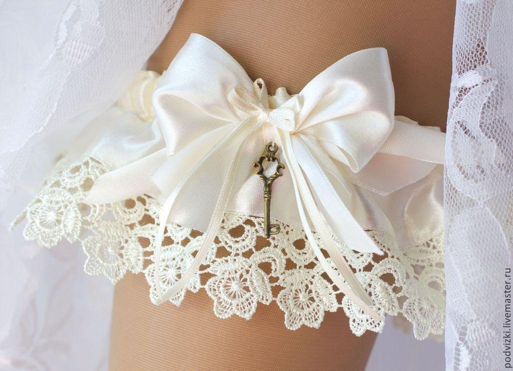 Как сшить подвязку для невесты своими руками кружево 33