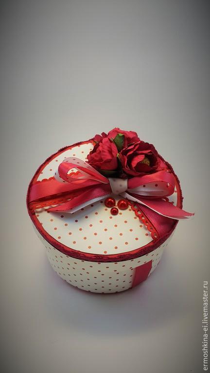 """Подарочная упаковка ручной работы. Ярмарка Мастеров - ручная работа. Купить Подарочная коробочка """"Джулия"""". Handmade. Разноцветный, красный"""