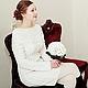 """Платья ручной работы. Платье вязаное""""White-2014""""  (25 косичек). Nataliy Sh-knitting. Интернет-магазин Ярмарка Мастеров."""