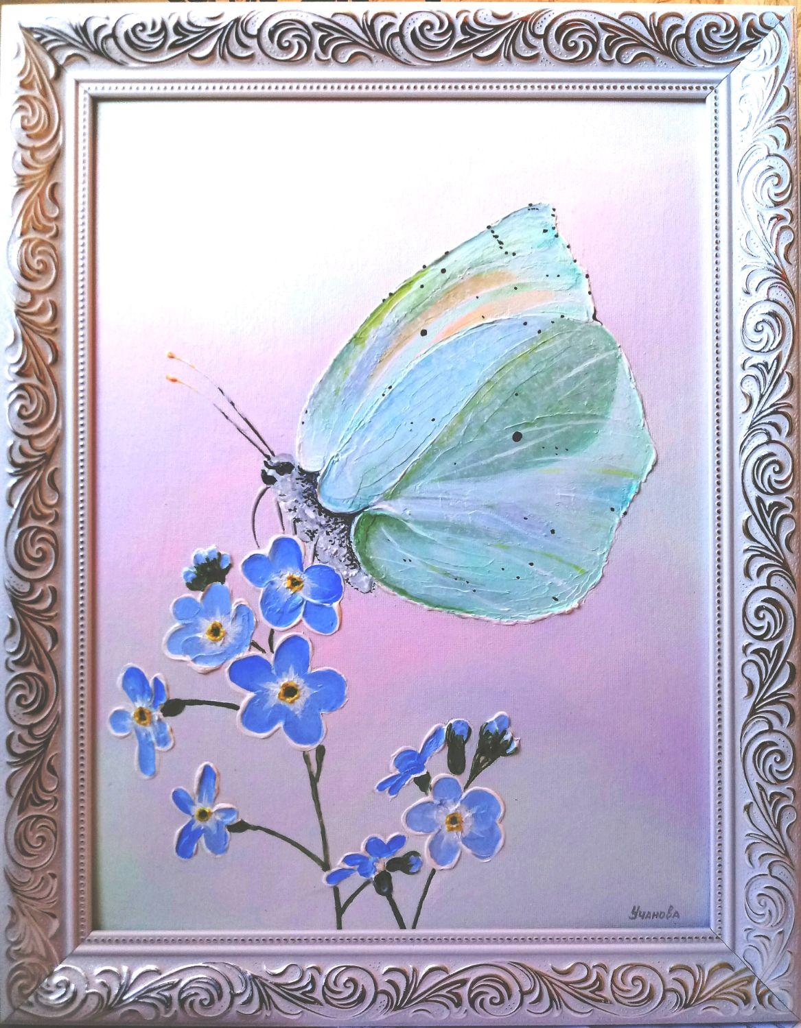 Бабочка. Незабудки, Бабочки, Лянтор,  Фото №1