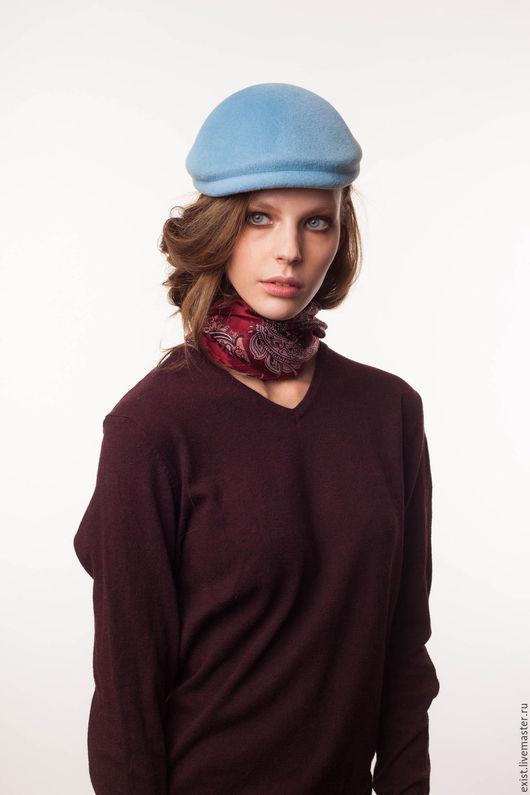 Шляпы ручной работы. Ярмарка Мастеров - ручная работа. Купить Шляпа Кепочка. Handmade. Голубой, кепка, головной убор