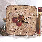 """Для дома и интерьера ручной работы. Ярмарка Мастеров - ручная работа Часы """"Томаты"""" интерьерные, настенные, на кухню (дерево). Handmade."""