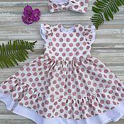 Платья ручной работы. Ярмарка Мастеров - ручная работа Нарядное платье из нежнейшего хлопка. Handmade.