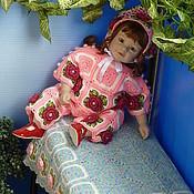 """Куклы и игрушки ручной работы. Ярмарка Мастеров - ручная работа Костюм """"Розы"""" с бусинами (штанишки, кофточка, чепчик). Handmade."""