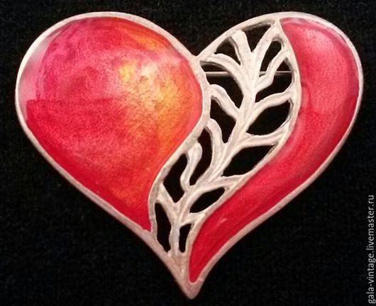 Винтажные украшения. Ярмарка Мастеров - ручная работа. Купить Брошь Сердце мое  винтажная брошь США винтажные украшения винтаж. Handmade.
