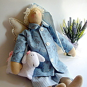 Куклы и игрушки ручной работы. Ярмарка Мастеров - ручная работа Сонный ангел в стиле Тильда. Handmade.