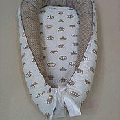 Кокон-гнездо ручной работы. Ярмарка Мастеров - ручная работа Кокон для новорожденных. Handmade.