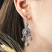 Украшения handmade. Livemaster - original item Earrings made of silver in the Russian style. Handmade.