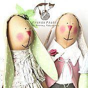 Куклы и игрушки ручной работы. Ярмарка Мастеров - ручная работа Тильды Сладкая парочка зайчиков. Handmade.