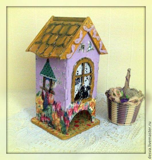 """Кухня ручной работы. Ярмарка Мастеров - ручная работа. Купить чайный домик """"Сказочный"""". Handmade. Бледно-сиреневый"""